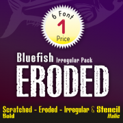Bluefish Eroded Font (6 in 1)