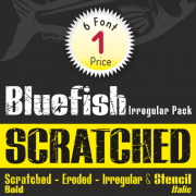 Bluefish Scratched Font (6 in 1)