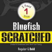 Bluefish Scratched Font (2 in 1)