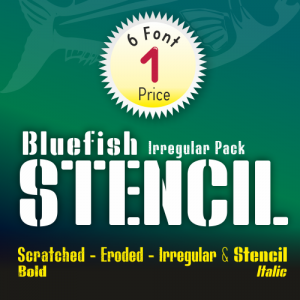 Bluefish Stencil Font (6 in 1)