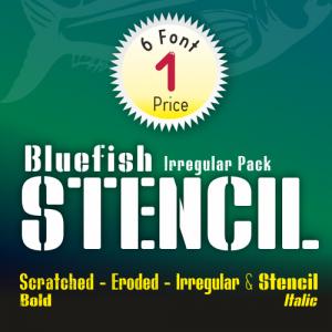 Bluefish Stencil Font (6 in 1)