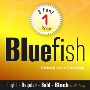 Bluefish Font (8 in 1)