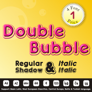 Double Bubble Font (4 in 1)