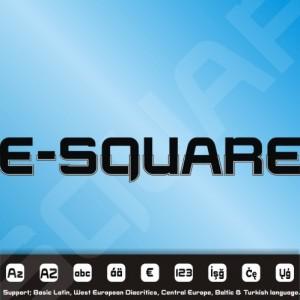 E-SQUARE Font