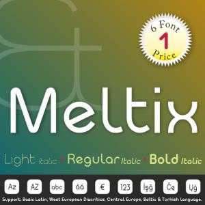 Meltix Font (6 in 1)