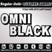 OMNIBLACK Font (4 in 1)