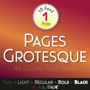 Pages Grotesque Font (10 in 1)