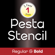 Pesta Stencil Font (2 in 1)