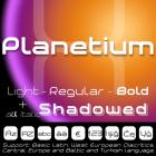 Planetium-X Font (8 in 1)