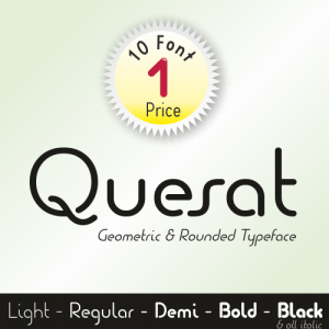 Quesat Font (10 in 1)