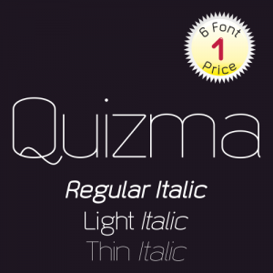 Quizma Font (6 in 1)