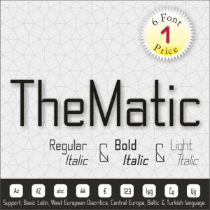 TheMatic Font (6 in 1)