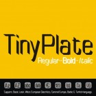 TinyPlate Font