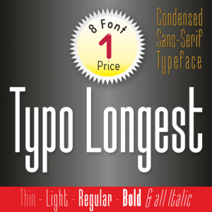 Typo Longest Font (8 in 1)