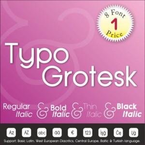 Typo Grotesk Font (8 in 1)