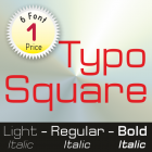 Typo Square Font (6 in 1)