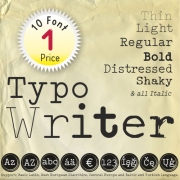 TypoWriter Font (10 in 1)