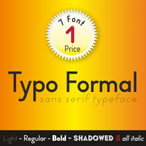 Typo Formal Font (6 in 1)