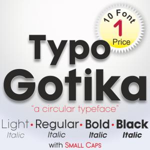 Typo Gotika Font (10 in 1)