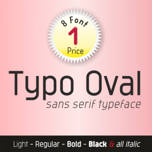 Typo Oval Font (8 in 1)