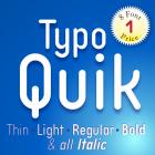Typo Quik Font (8 in 1)