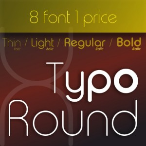 Typo Round Font (8 in 1)
