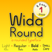 Wida Round Font (8 in 1)