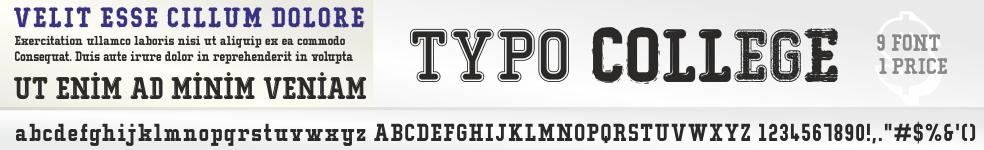 Typo College Font