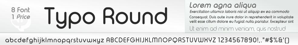 Typo Round Font