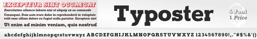 Typoster Font