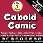 Cabold Comic Font