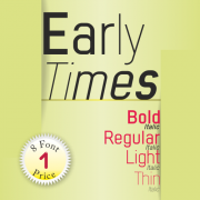 Early Times Font (8 in 1)