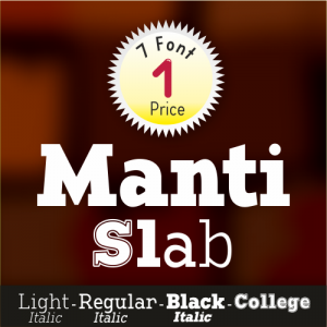 Manti Slab Font (7 in 1)