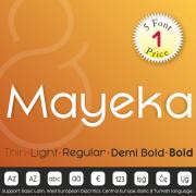 Mayeka Font (5 in 1)
