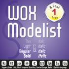 WOX Modelist Font (8 in 1)