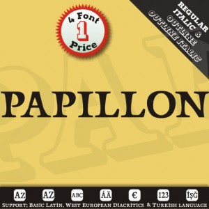 Papillons Font (4 in 1)
