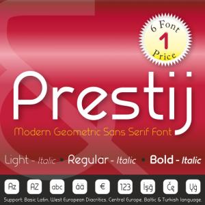 Prestij Font (6 in 1)