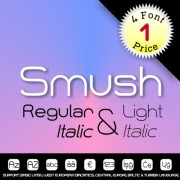 SMUSH Font (4 in 1)