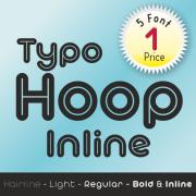 Typo Hoop Inline Font (5 in 1)