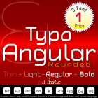 Typo Angular Rounded Font (8 in 1)