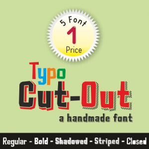Typo Cut-Out Font (5 in 1)