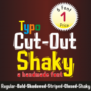 Typo Cut-Out Shaky Font (6 in 1)