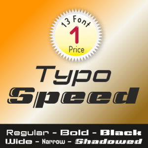Typo Speed Font (13 in 1)