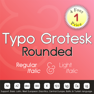 Typo Grotesk Rounded (4 in 1)