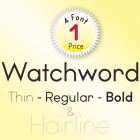 Watchword Font (4 in 1)