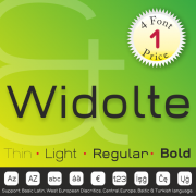Widolte Font (4 in 1)
